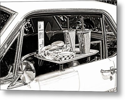 Drive-in Metal Print by Rudy Umans