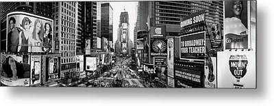 Dusk, Times Square, Nyc, New York City Metal Print by Panoramic Images