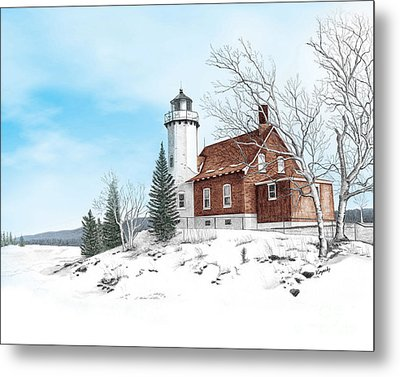 Eagle Harbor Lighthouse Metal Print by Darren Kopecky