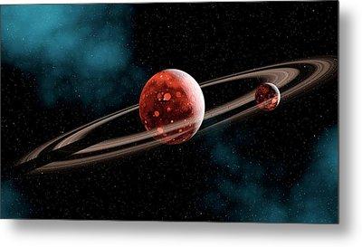 Earth-moon System Formation Metal Print by Joe Tucciarone