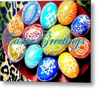 Easter Greetings Metal Print