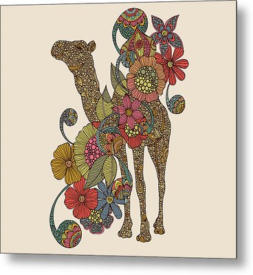 Easy Camel Metal Print by Valentina