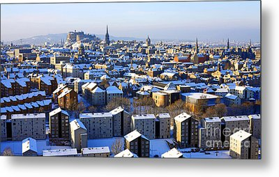 Edinburgh Winter Cityscape Metal Print by Craig B