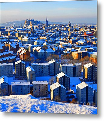 Edinburgh Winter Metal Print by Craig B
