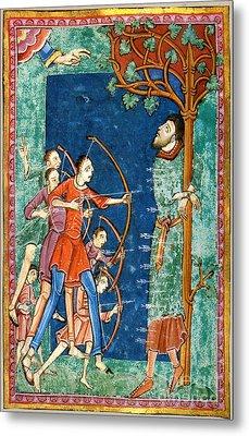 Edmund The Martyr, King Of East Anglia Metal Print