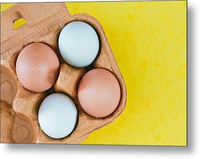 Eggs Metal Print by Tom Gowanlock