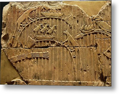 Egyptian Stone Tablet. Metal Print