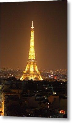 Eiffel Tower - Paris France - 01131 Metal Print by DC Photographer