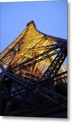 Eiffel Tower - Paris France - 01134 Metal Print