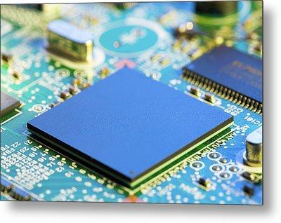 Electronic Printed Circuit Board Metal Print by Wladimir Bulgar