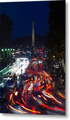 Elevated View Of Traffic On The Road Metal Print
