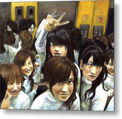 Elevator People People People Metal Print by Vanessa Baladad