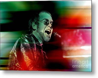 Elton John Metal Print by Marvin Blaine