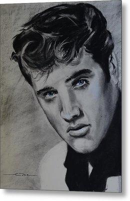 Metal Print featuring the drawing Elvis Presley - America by Eric Dee
