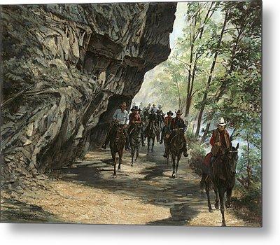 Eminence Trail Ride Metal Print by Don  Langeneckert