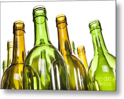 Empty Glass Wine Bottles Metal Print by Colin and Linda McKie