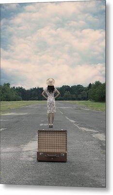 Empty Suitcase Metal Print