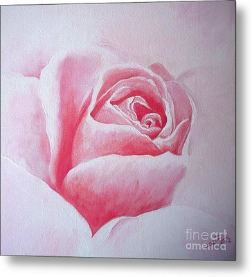 Metal Print featuring the painting English Rose by Sandra Phryce-Jones