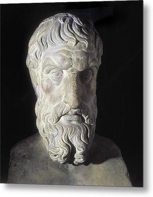Epicurus 341-270 Bc. Greek Philosopher Metal Print by Everett