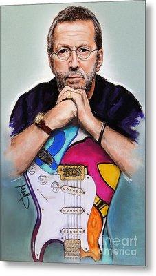 Eric Clapton Metal Print by Melanie D