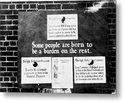 Eugenics Exhibit At Public Fair Metal Print by American Philosophical Society