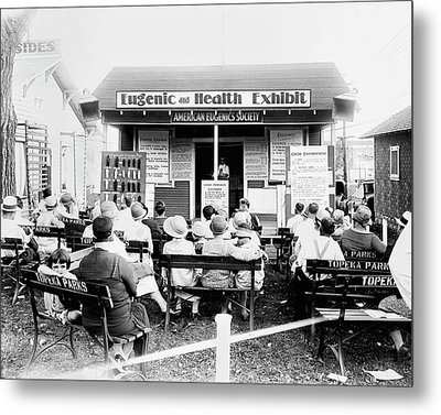 Eugenics Lecture At Public Fair Metal Print by American Philosophical Society