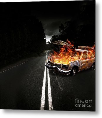 Explosive Car Bomb Metal Print by Jorgo Photography - Wall Art Gallery