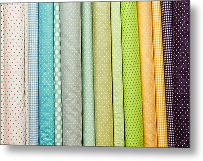 Fabric Colours Metal Print by Tom Gowanlock