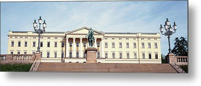 Facade Of The Royal Palace, Oslo, Norway Metal Print by Panoramic Images