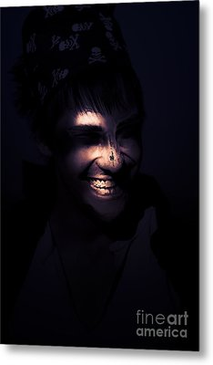 Face Of Horror Terror And Madness Metal Print