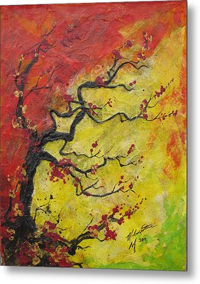 Fall Flame Metal Print