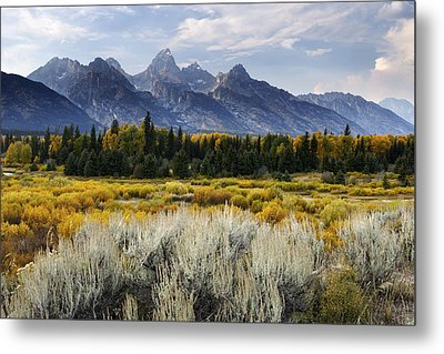 Fall In The Tetons Metal Print by Eric Foltz