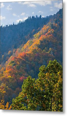 Fall Smoky Mountains Metal Print by Melinda Fawver