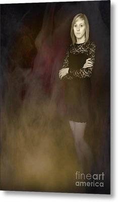 Fantasy Portrait Metal Print by Amanda Elwell