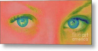 Metal Print featuring the painting Far Away Eyes by Janice Westerberg