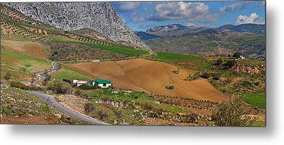 Farmland At The Edge Of El Torcal Metal Print by Panoramic Images