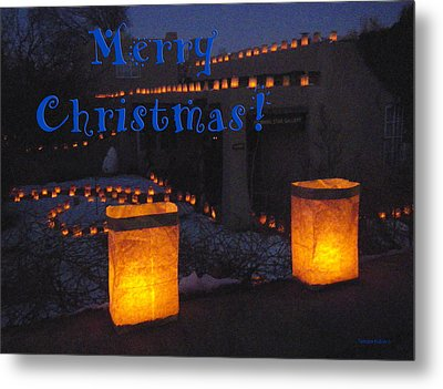 Farolitos Or Luminaria On Wall-2 Metal Print