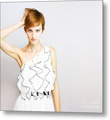 Fashion Copyspace Metal Print by Jorgo Photography - Wall Art Gallery