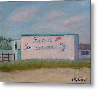 Fazios Seafood In St Augustine Florida Metal Print