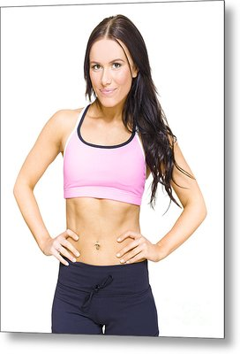 Female Gym Personal Fitness Trainer Or Instructor Metal Print