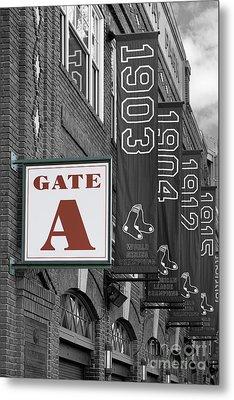 Fenway Park Gate A Metal Print