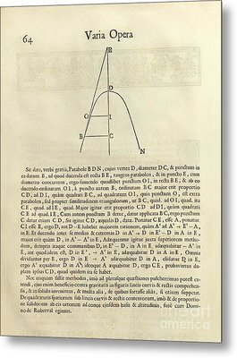 Fermat's Tangent Method Metal Print by Royal Astronomical Society