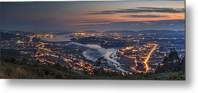 Ferrol's Ria Panorama From Mount Ancos Galicia Spain Metal Print