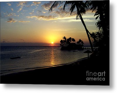 Fijian Sunset Metal Print