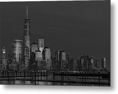 Financial District In New York City At Twilight Metal Print