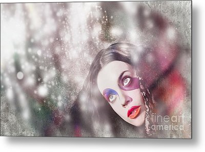 Fine Art Woman In Light Of Spiritual Awakening Metal Print by Jorgo Photography - Wall Art Gallery
