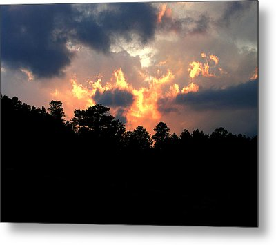 Metal Print featuring the photograph Fire In The Sky by Craig T Burgwardt