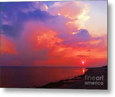 Metal Print featuring the photograph Fire In The Sky by Holly Martinson