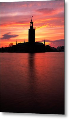 Fire In The Sky Metal Print by Viacheslav Savitskiy