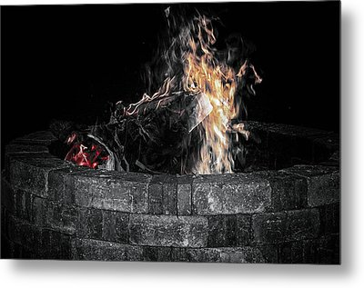 Fire Pit Metal Print by J Riley Johnson